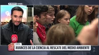 En tren llegó Greta Thunberg a Madrid para participar en la COP25