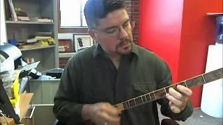 "How To Play ""wagon Wheel"" (old Crow Medicine Show And Darius Rucker) On A One-string Canjo"