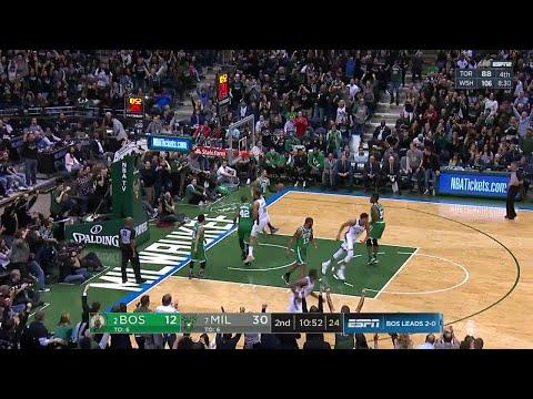 2nd Quarter, One Box Video: Milwaukee Bucks vs. Boston Celtics