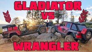 JEEP GLADIATOR vs JLU RUBICON - On The Rubicon Trail (Part 1)
