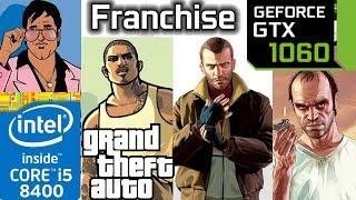 GTA Franchise GTX 1060 3 4 5 Vice City San Andreas Grand Theft Auto Series Bench