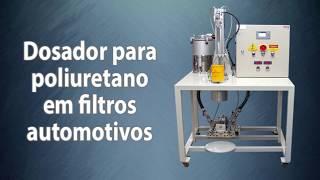Dosador para poliuretano em filtros automotivos