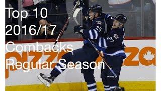Top 10 comebacks 2016/17 NHL regular season