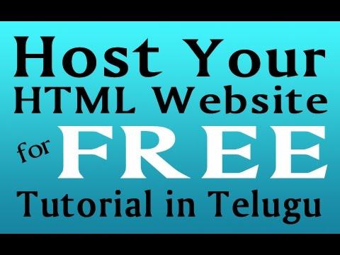 host html website free