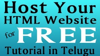 How to Host HTML Website for Free - Tutorial in Telugu