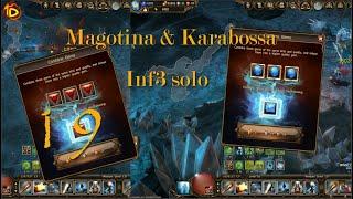 [Drakensang Online] Magotina & Karabossa inf3 Solo +Last 8% Speed Rune & Royal Ruby