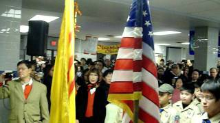 South Vietnam national anthem at 2009 Tet festival in Northern Virginia