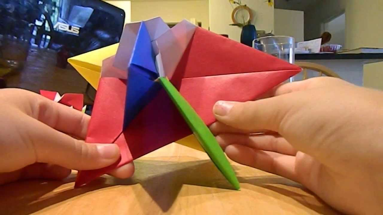 Wxyz interlocking triangles origami part 2 connect the modules wxyz interlocking triangles origami part 2 connect the modules to get a base jeuxipadfo Image collections