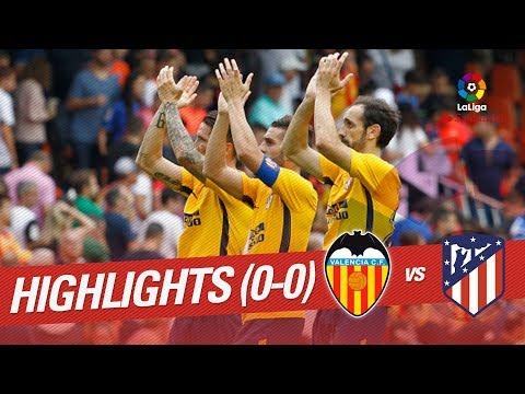 Resumen de Valencia CF vs Atlético de Madrid (0-0)