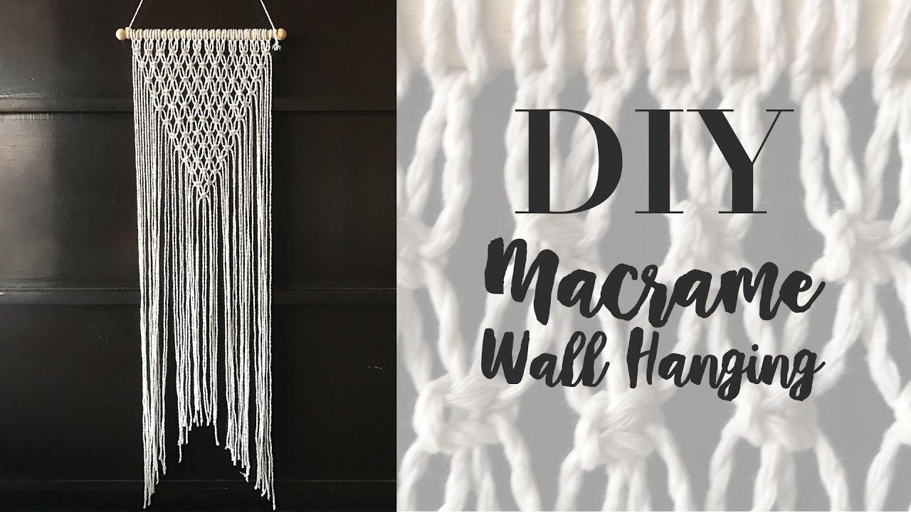 Diy macrame wall hanging easy wall decor youtube diy macrame wall hanging easy wall decor solutioingenieria Images