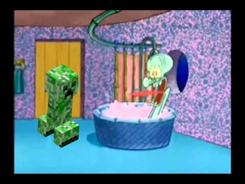 Creeper Drops By Squidward's House - YouTube