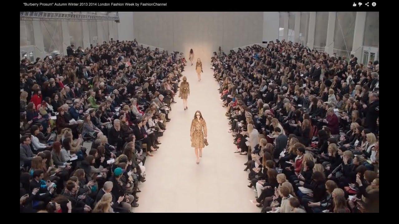 Burberry Prosum Fashion Show Autumn Winter 2013 Pret A