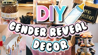 BABY GENDER REVEAL!! | DIY EASY GENDER REVEAL PARTY DECOR!