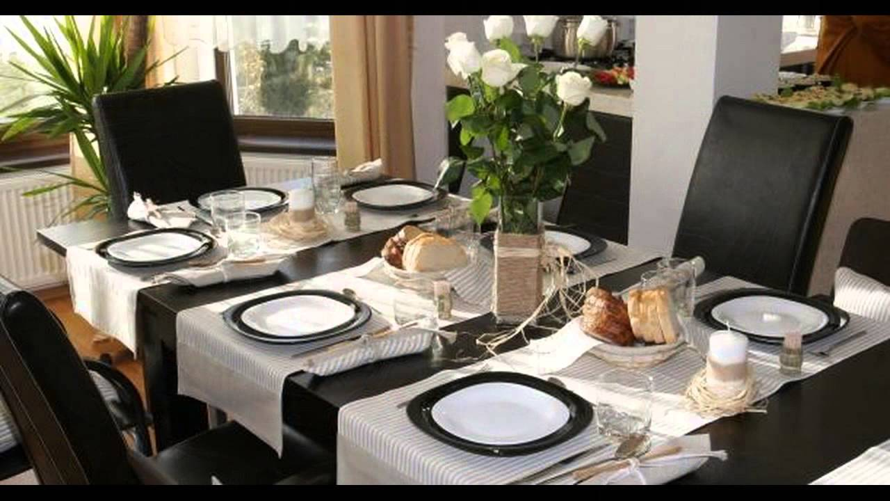 Dining table decoration youtube for Dinette table decorations