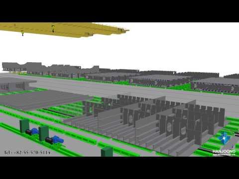 PANEL LINE SHOP /  PANEL LINE AUTOMATION / SHIPYARD / SHIPBUILDING 3D