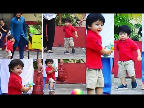 Little Taimur Ali Khan playing with daddy Saif and a ball :) Mp3