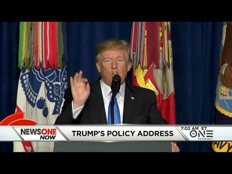 Trump Announces New Afghan Policy, Offers Out Of Place Statement On Bigotry During Remarks