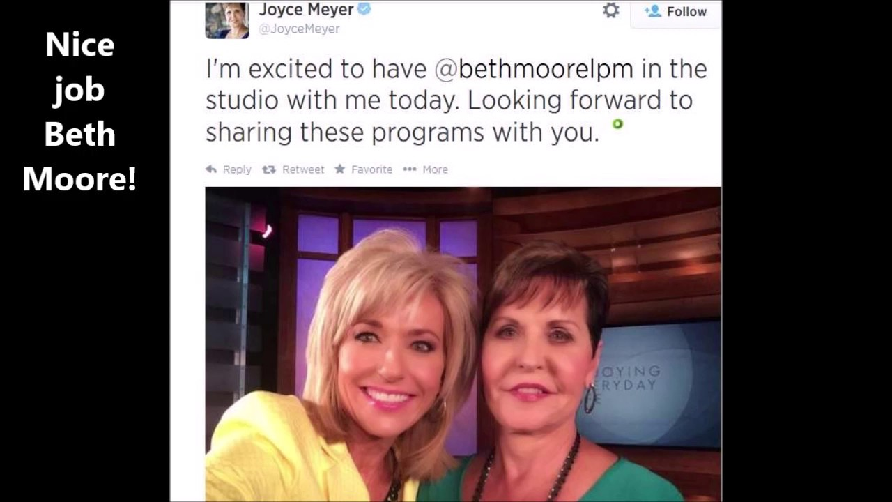 Beth Moore / Jesus went to hell - teaming up with heretic Joyce Meyer