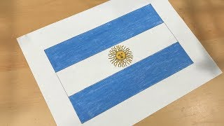 Argentine Flag Drawing 🇦🇷