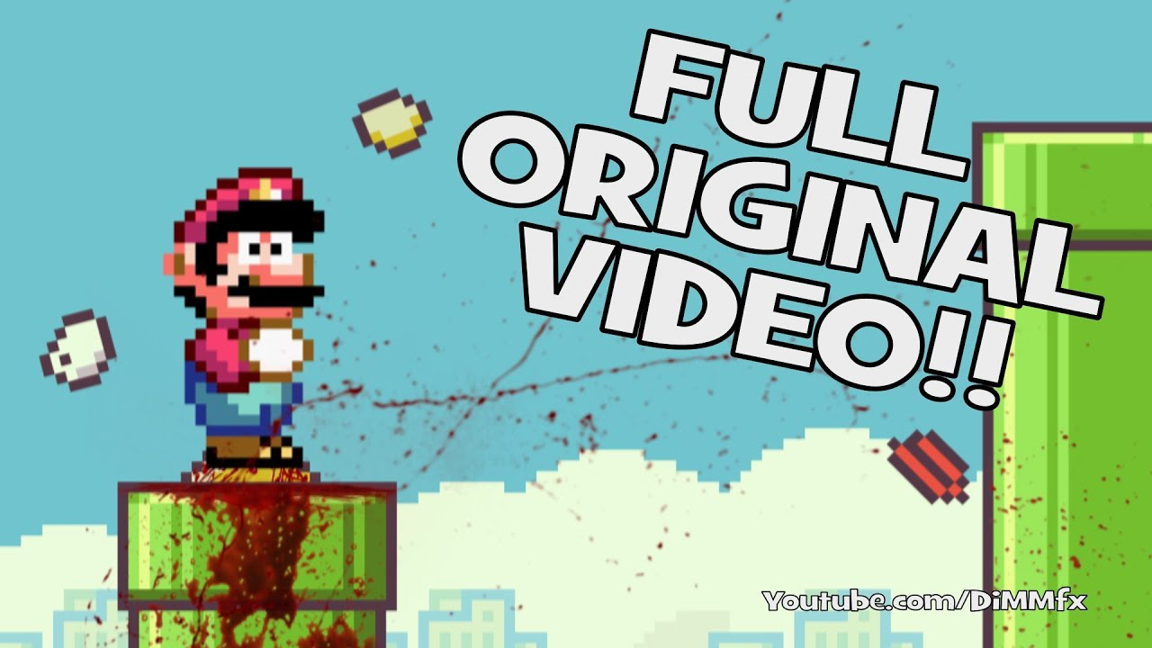 Mario Meets Flappy Bird Original YouTube - Flappy bird in real life