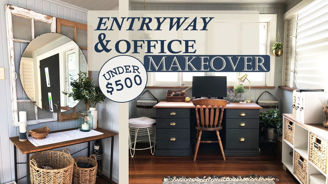 Office Foyer Signs : Entryway office room makeover transformation contest