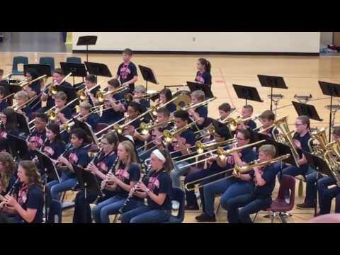 Bright field middle school band dragon slayer!
