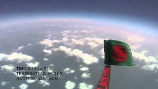 Bangladeshi Flag at the doorsteps of Space
