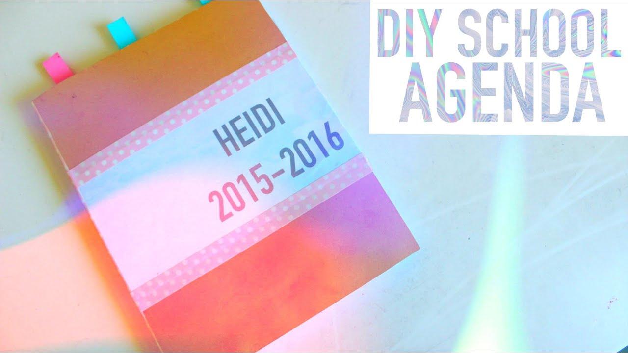 DIY SCHOOL AGENDAPLANNER 2015 BACK TO SCHOOL ORGANIZATION – School Agenda