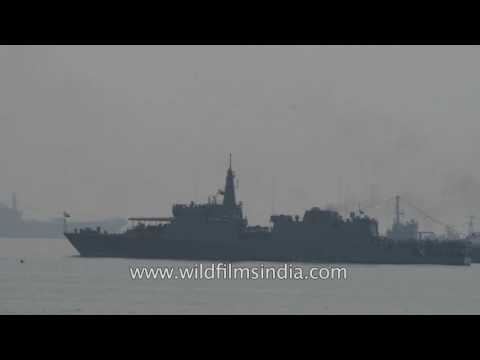 INS Sumitra sails in waters of Bay of bengal