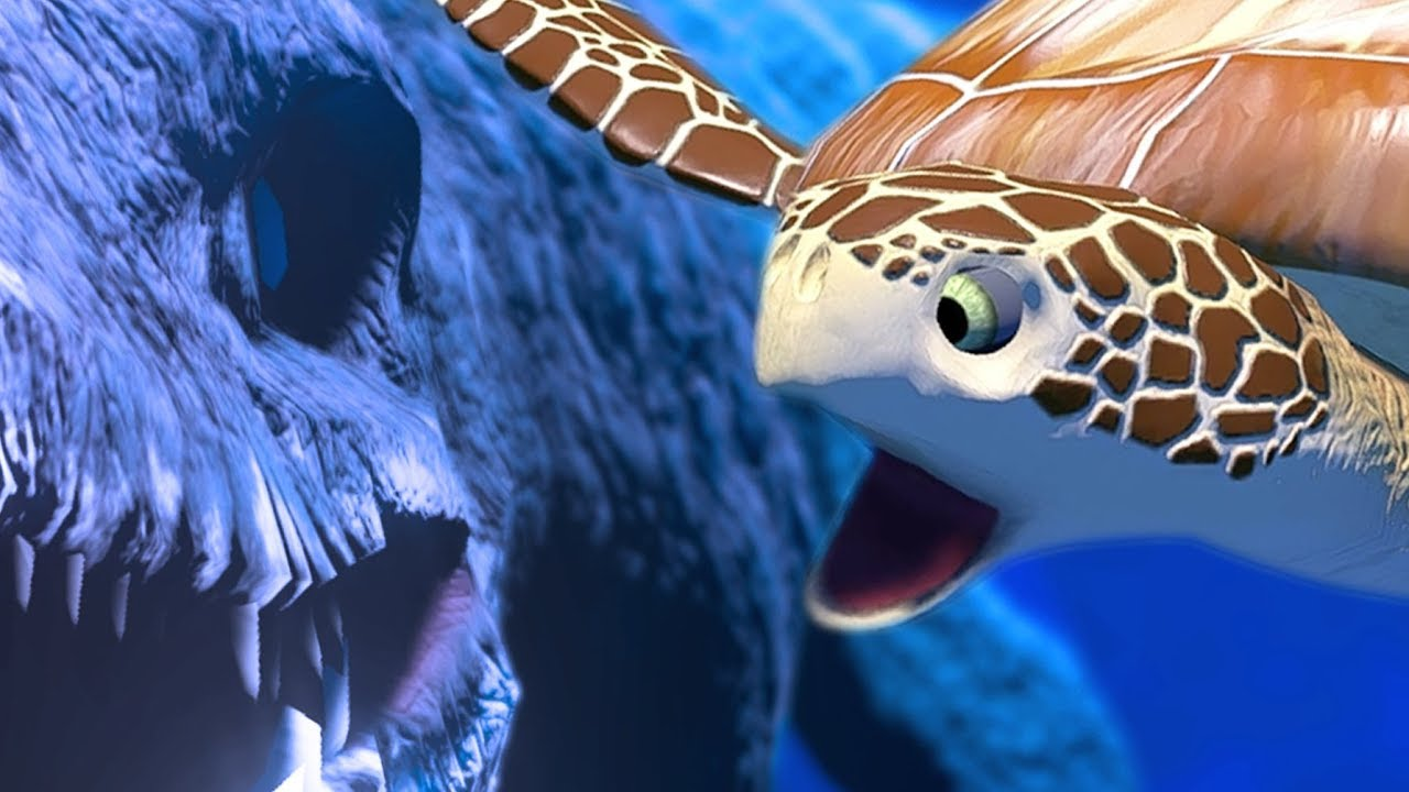 sea-turtle-vs-giant-sea-reptile-mosasaurus-feed-and-grow-fish-part-54-pungence
