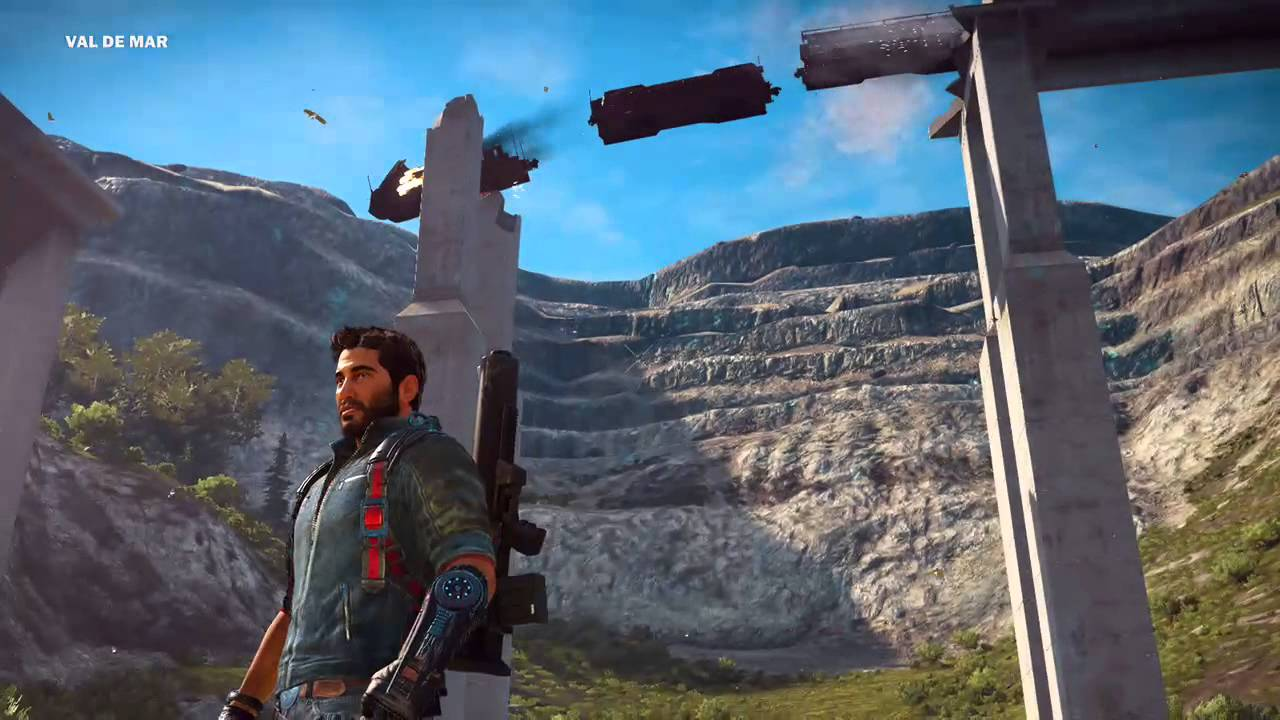 Epic Train Crash : Just Cause 3 - YouTube