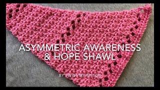 Download Easy Crochet Asymmetrical Triangle Shawl It Will