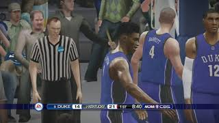 NCAA Basketball 10 (Rosters Updated for 2018 2019 Season) Duke vs Kentucky