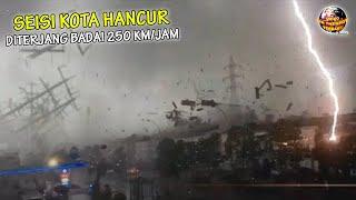 Download Badai Kembar Dahsyat Hantam TAIWAN, Dalam Sekejap Seluruh Kota HANCUR BERANTAKAN!