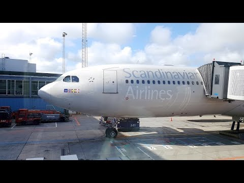 SAS A330 BUSINESS CLASS TO NEW YORK | My best flight of 2017!