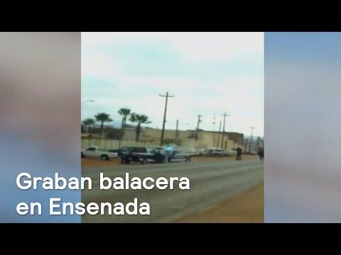Graban balacera en Ensenada, Baja California - Despierta con Loret