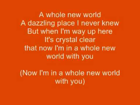 Who Sang A Whole New World? ALADDIN - Lyrics007