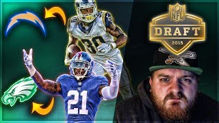 reacting to my 2015 nfl mock draft todd gurley has been my dude since day 1