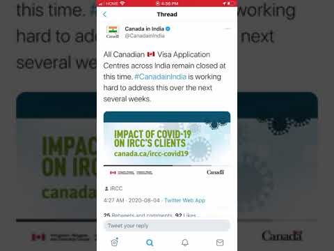Update From Canadian Embassy About Visa Application Centers In India