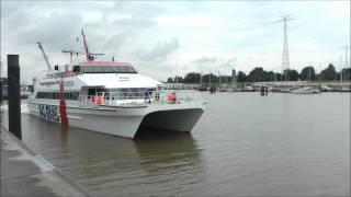 Mit der Nordlicht Fähre von Emden nach Borkum!