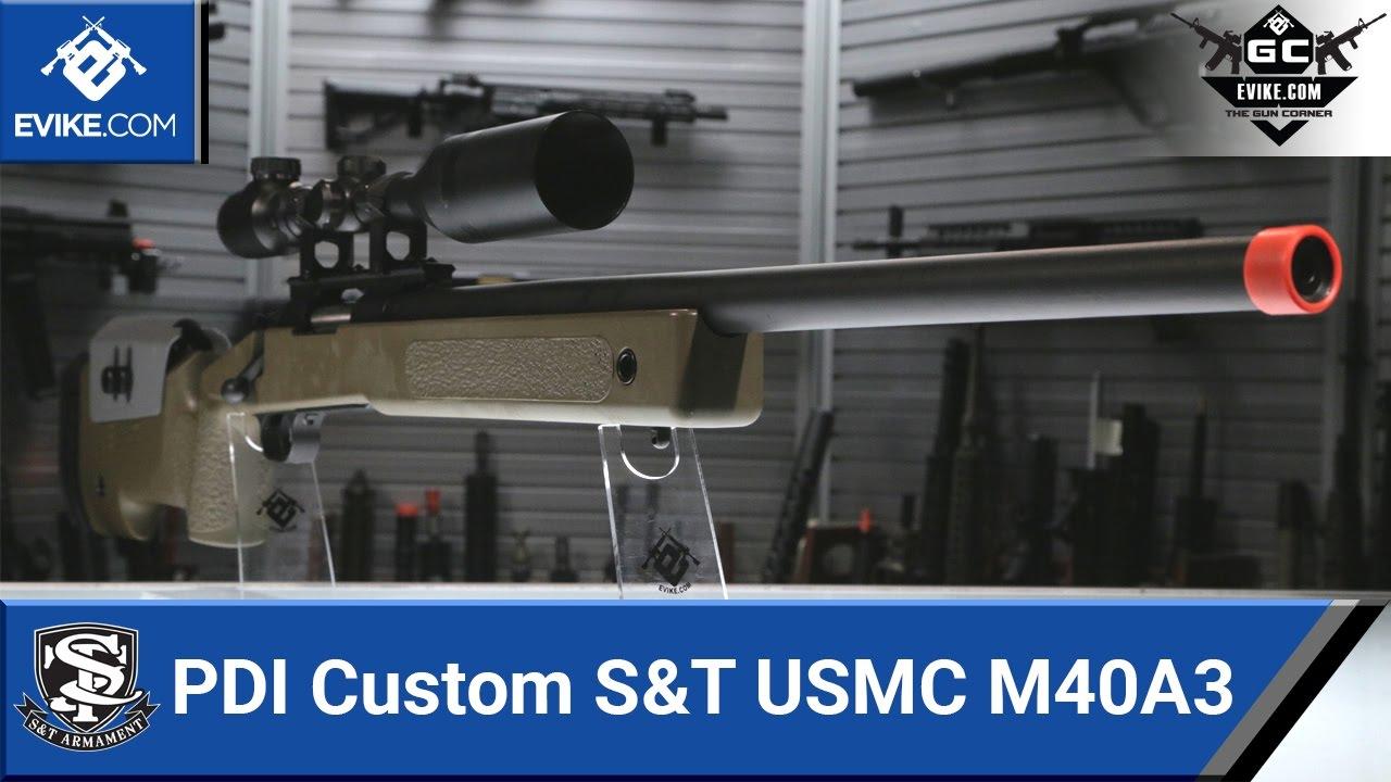 PDI Custom S&T USMC M40A3 Sniper Rifle [The Gun Corner] - Airsoft Evike com