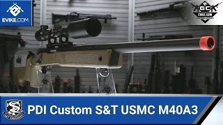 PDI Custom S&T USMC M40A3 Sniper Rifle [The Gun Corner] - Airsoft Evike.com