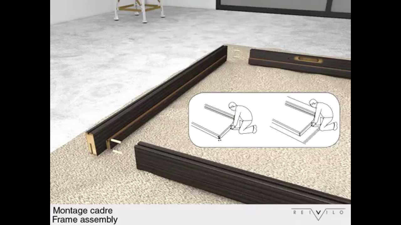 notice de montage bloc porte en pose fin de chantier reivilo youtube. Black Bedroom Furniture Sets. Home Design Ideas