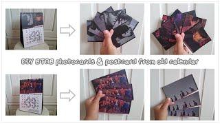 DIY KPOP 비투비 BTOB photocards & postcard from old calendar ~