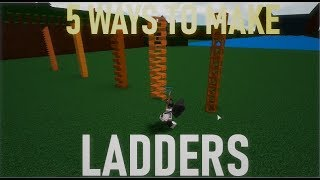 5 Different ways to make LADDERS *AWESOME* | Roblox Build a Boat for Treasure