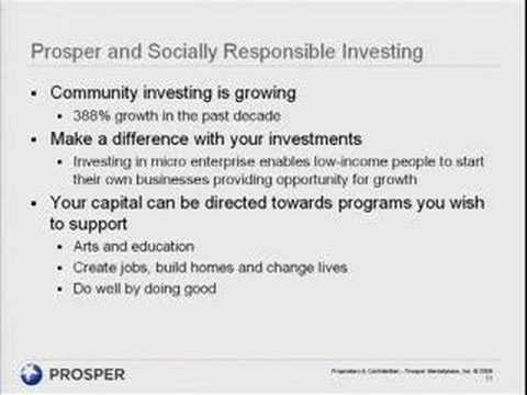 People to People Lending with Prosper
