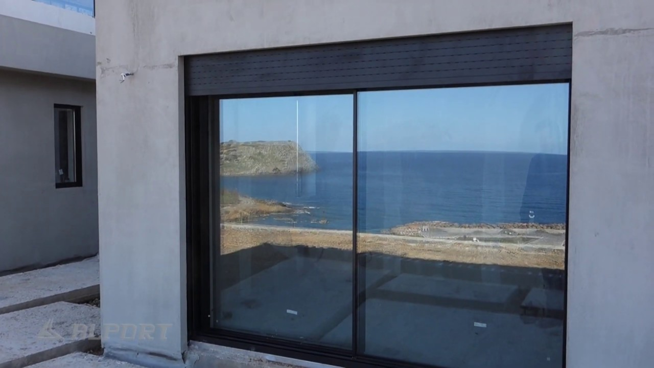 Minimal aluminium system EXP integration with security rolling shutters -  minimal κουφώματα με ρολά