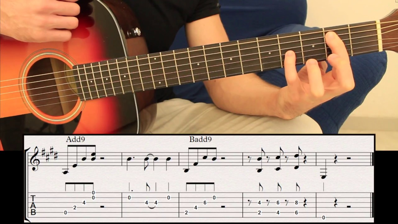 Best Chord On Guitar Add9 Chords Tab Fingerstyle Guitar Lesson