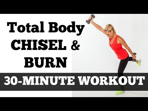 30-Minute Total Body Fat Burning Workout Video | Chisel & Bu