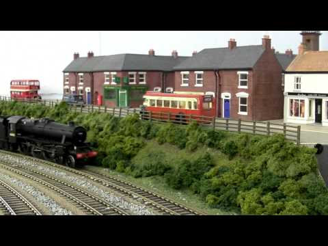 North East model railway – Black 5 on Milk and Parcels